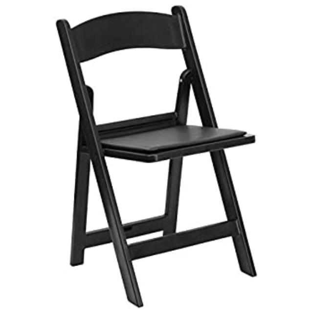 Where to find Black Resin Padded Chair in Atlanta